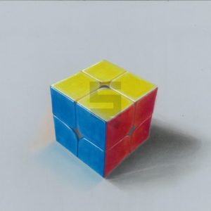 realistic-3d-2x2-rubiks-cube-painting