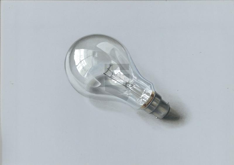 Paint Light Bulb Acrylic