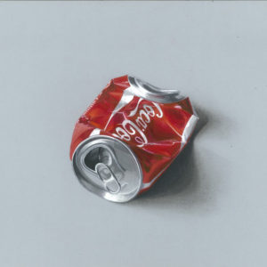 realistic-3d-crushed-coke-can-painting